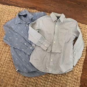 Gap formal button down grey blue size medium 8